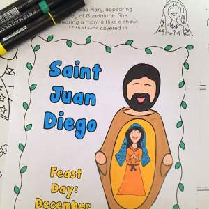 Perfect for Catholic kids, this packet is full of 35 pages of worksheets and activities about Our Lady of Guadalupe and Saint Juan Diego. Click through to learn more!