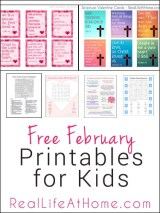 Free February Printables for Kids and Families