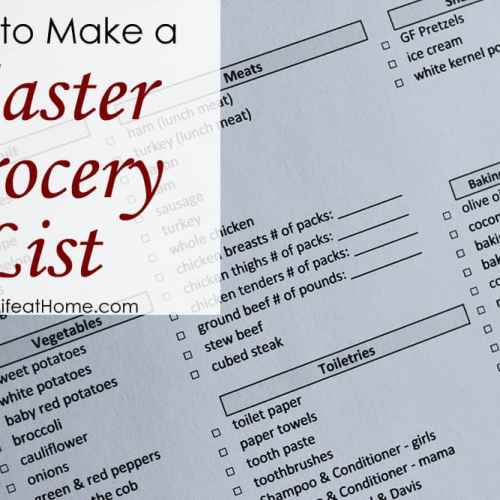 How to Make a Master Grocery List