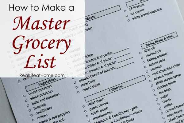 How to Make a Master Grocery List in Order to Save Time and Effort in Your Busy Life