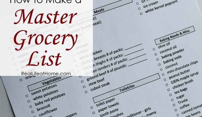 How to Make a Master Grocery List: Save Yourself Time and Effort!