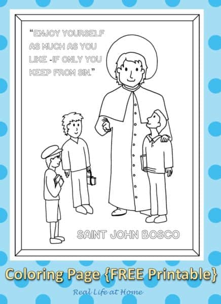 saint john bosco coloring page free printable