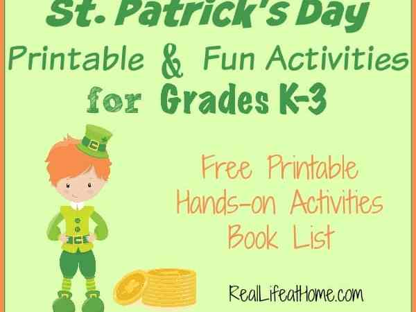 Free St. Patrick's Day Printable and Activities