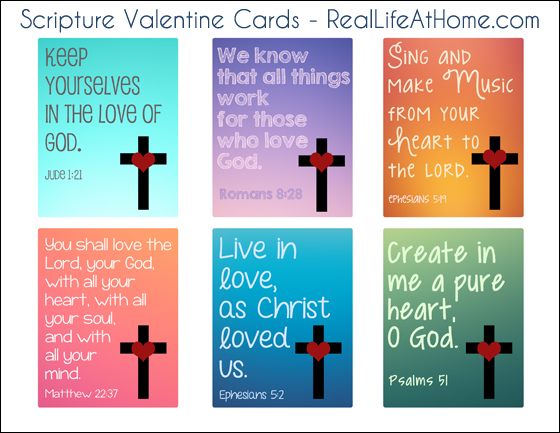 photograph about Printable Scripture Cards known as Spiritual Valentine Playing cards for Small children: No cost Printables inside of