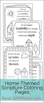 Free Coloring Pages Featuring Doodle Designs and Home-Themed Scriptures | RealLifeAtHome.com