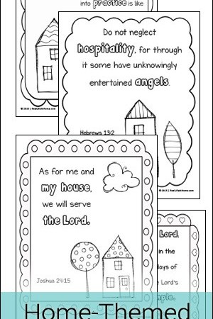 Home Themed Scripture Coloring Pages Free Printables