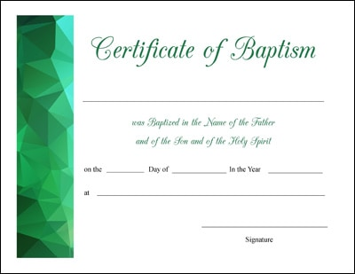 Free Printable Baptism, First Communion, and Confirmation Certificates (4 Designs for Each)
