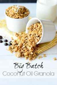 Big Batch Coconut Oil Granola - Real Life at Home