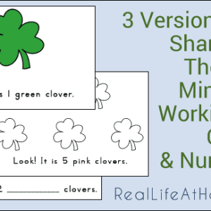 Shamrock Mini-Books for Emergent Readers (Three Versions of this Printable Set for Free!)