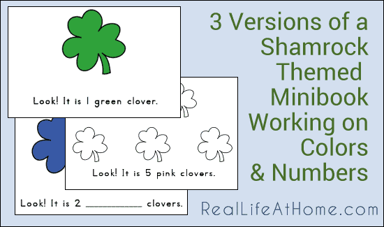 Shamrock Mini-Books for Emergent Readers {Free Printables}
