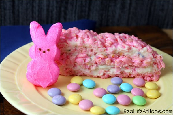 Peep Rice Krispie Treat Layered Dessert | RealLifeAtHome.com
