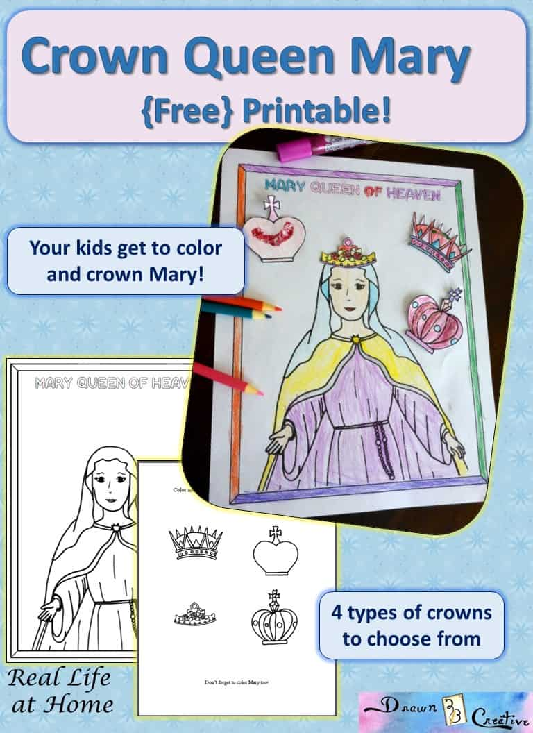 mary queen of heaven printable activity real life at home