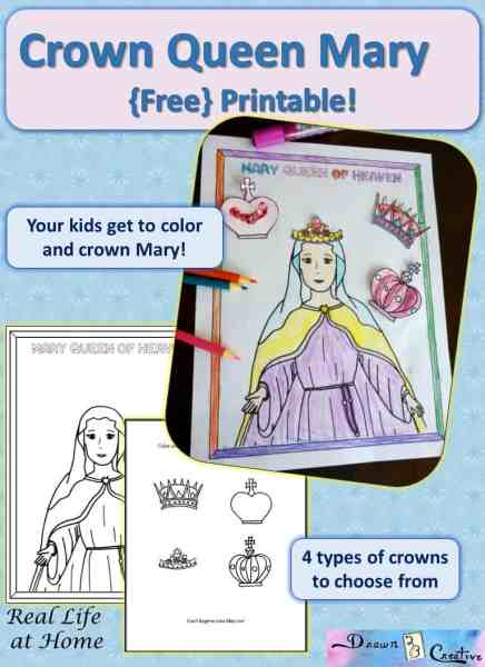 mary queen of heaven free printable activity reallifeathomecom