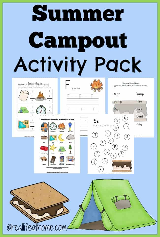 photo relating to Camping Scavenger Hunt Printable named Summer time Camp Out Printables and Pursuits