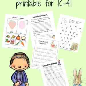 Celebrate Beatrix Potter's birthday with a free printable for K-4. | reallifeathome.com