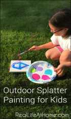 Outdoor Splatter Painting for Kids