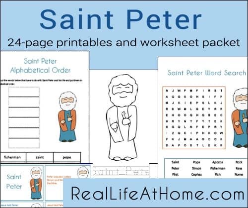 Saint Peter Printables and Worksheet Packet