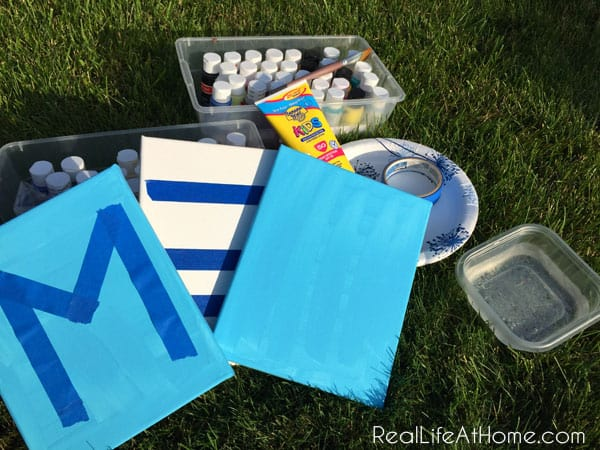 Supplies for Outdoor Splatter Painting for Kids