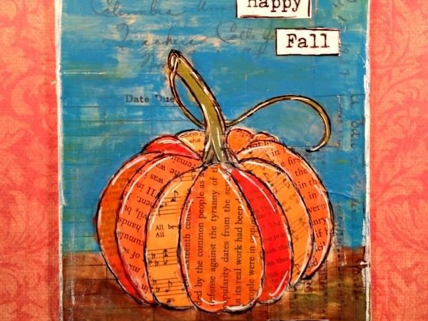 Mixed Media Pumpkin Project for Fall