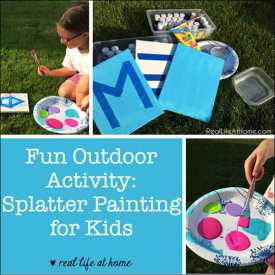 Fun Outdoor Activity: Splatter Painting for Kids