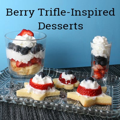 Inspired by trifles, these berry desserts in red, white, and blue are perfect for summer time and Independence Day!