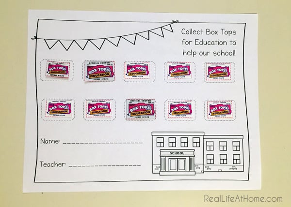 Box Tops for Education Collection Form Free Printable  sc 1 st  Real Life at Home & Low and No Cost Incentive Ideas for Collecting Box Tops for ... Aboutintivar.Com