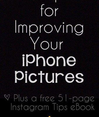 5 Tips for Improving Your iPhone Pictures {Plus a Free 51-page eBook with tips to help you on Instagram!} | RealLifeAtHome.com