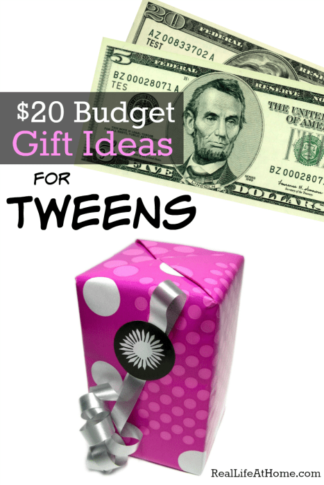 Gift ideas for tweens within a $20 budget - it's possible!