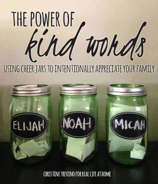 The Power of Kind Words: How to Make and Use Cheer Jars to Intentionally Appreciate Your Family