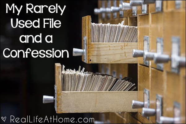 My Rarely Used File and a Confession