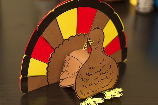photo regarding Turkey Cutout Printable named Thanksgiving 3D Turkey Cutout Downloadable Artwork Task for Little ones