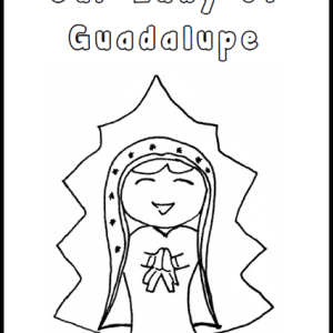 Our Lady of Guadalupe Free Coloring Page Printable from RealLifeAtHome.com