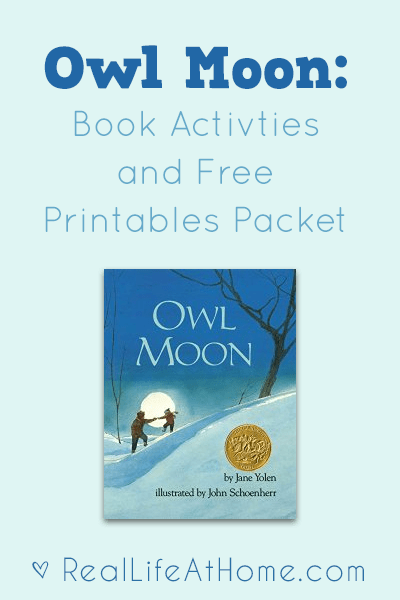 owl moon activities and free printables rh reallifeathome com Reading Comprehension Questions for Parents Listening Comprehension Questions