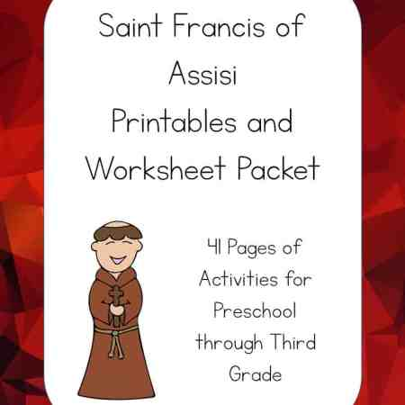 Saint Francis Of Assisi Printables Packet St Francis Of Assisi Coloring Page