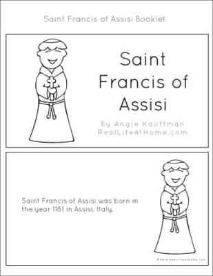 Saint Francis of Assisi Printable Story Book for Kids (part of the 43 page St. Francis Printables Packet)