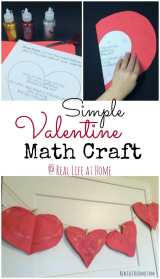 Simple Valentine's Day Symmetry Craft with Printable