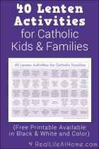 40 Lenten Activities for Catholic Families {Free Printable}