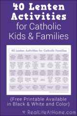 40 Lenten Activities for Families Printable