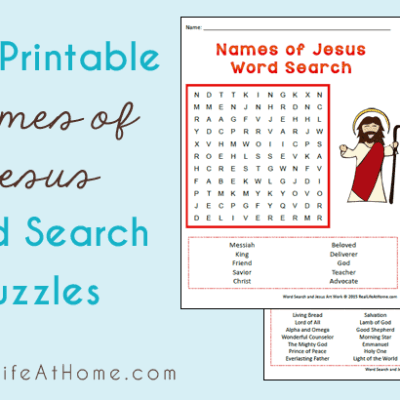 Names of Jesus Word Search - Free Printables (Comes in Two Difficulty Levels)