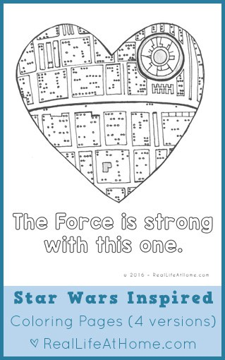Free Star Wars Valentines Lunch Box Notes And Coloring Page Printables