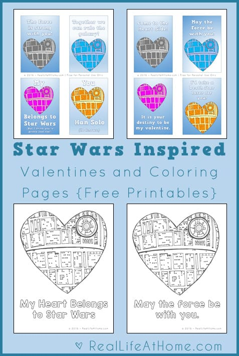 Free Star Wars Valentines Lunch Box Notes And Coloring
