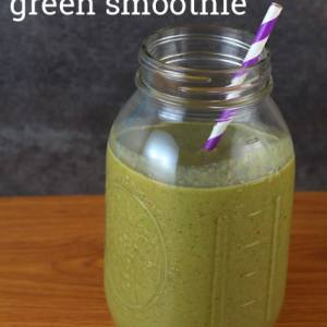 This is so delicious! Banana Berry Almond Butter Green Smoothie Recipe