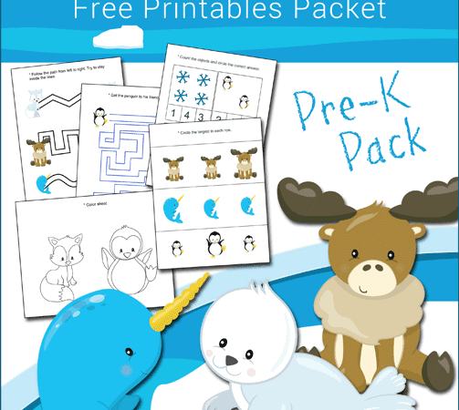 Free Antarctic and Arctic Animals Printables Packet for Preschool