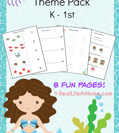 Mermaid Printables Packet for Preschoolers