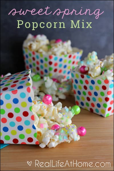 Quick and Easy Sweet Spring Popcorn Mix Recipe
