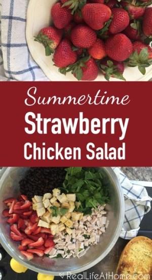 Summertime Strawberry Chicken Salad