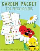 Garden Printables Packet for Preschoolers