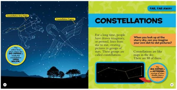 National Geographic Kids First Space Book Constellations page