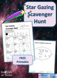 Star Gazing Scavenger Hunt Printables