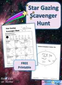 Star Gazing Scavenger Hunt Printables